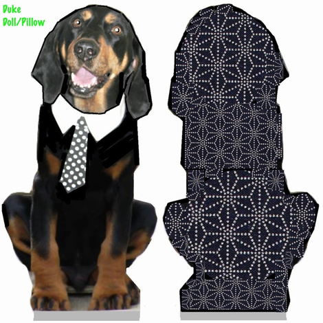 Duke the Coonhound Toy fabric by feralartist on Spoonflower - custom fabric