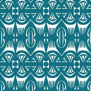 Tropical Drum Print - Teal