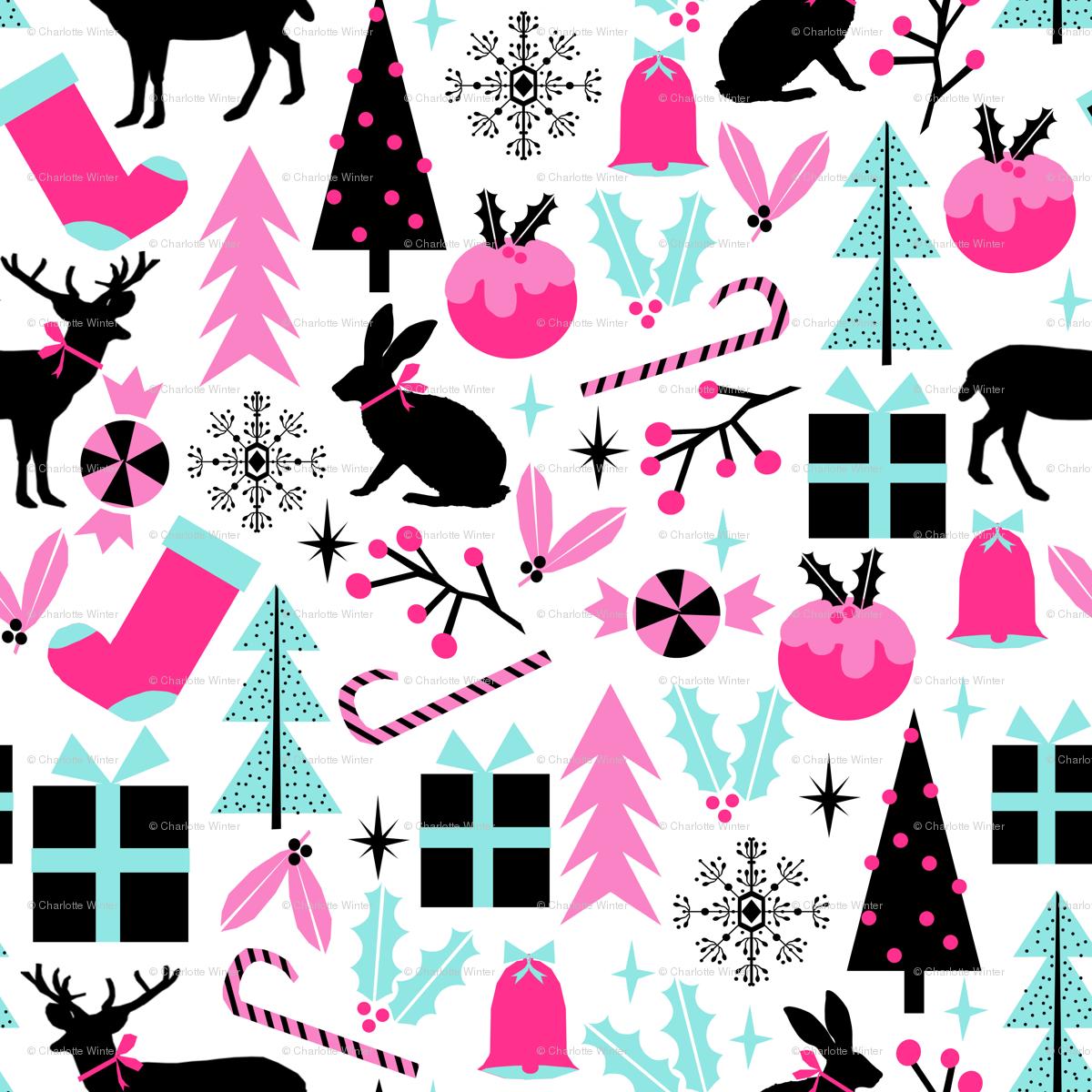 christmas holiday festive holiday christmas decor christmas fabric ...