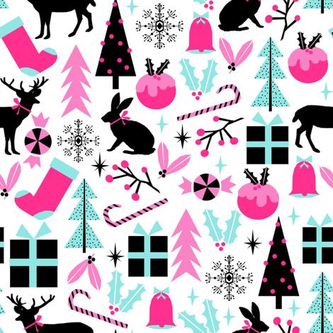 christmas holiday festive holiday christmas decor christmas fabric for kids cute christmas designs scandi fabric by charlottewinter on Spoonflower - custom fabric