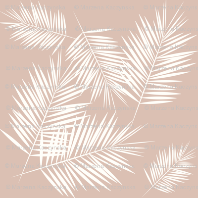 palm leaves - palm tree tropical fern summer ivory on blush || by sunny afternoon