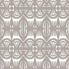 Tropical Drum Print - Cement
