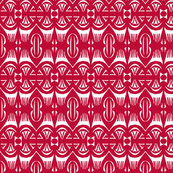 Tropical Drum Print - Island Red
