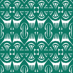 Tropical Drum Print - Island Green