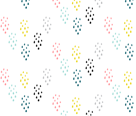 Kid You'll Move Mountains - Raindrops fabric by shopcabin on Spoonflower - custom fabric
