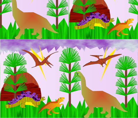 Spoonflower_dinosaurs-2-7_28_2016 fabric by compugraphd on Spoonflower - custom fabric