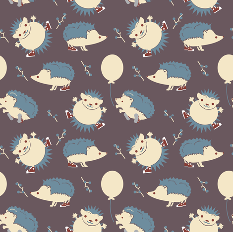 HedgieParty-Evening fabric by happyhappymeowmeow on Spoonflower - custom fabric