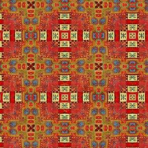 oriental carpet plaid