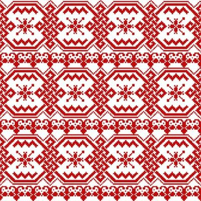 Snowflake Sweater red