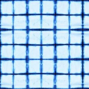 shibori grid - tie dye indigo