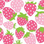 strawberries - light and dark pink