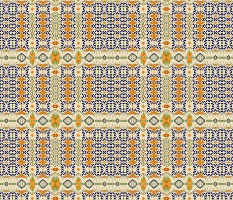 talavera-mex-tile- blue yellow fabric by wren_leyland on Spoonflower - custom fabric