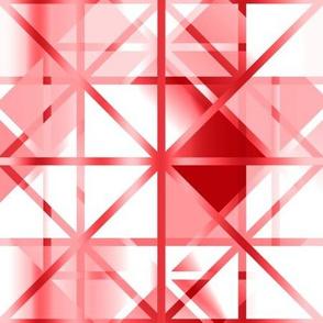 Diamond Checker Red White