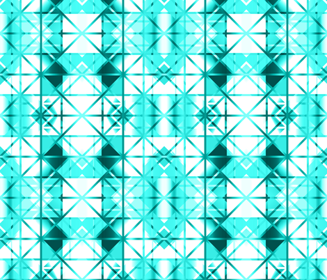 Diamond Checker Aqua White fabric by deanna_konz on Spoonflower - custom fabric