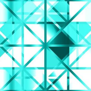 Diamond Checker Aqua White