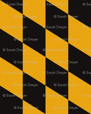 Maryland Flag Yellow/Black