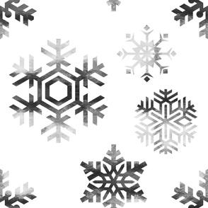 custom JUMBO silver snowflakes