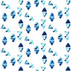 tie dye triangles || indigo