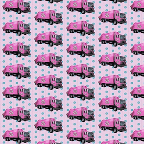 Pink Trash Truck Garbage Truck Purple Stripe Small