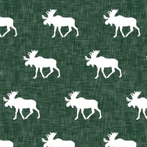 moose - hunter green linen (small scale)