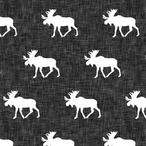 moose on dark grey linen (small scale)