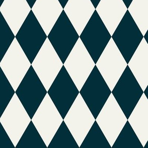 Harlequin diamonds - navy and ivory pierrot squares geometric indigo || by sunny aftrnoon