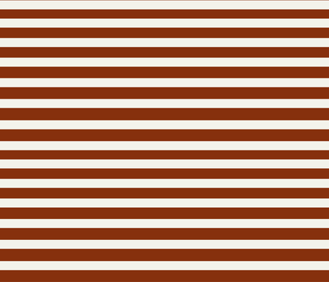 Stripes - rusty red and Ivory, horizontal stripes, potters clay || by sunny afternoon fabric by sunny_afternoon on Spoonflower - custom fabric