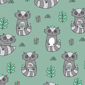 raccoon pattern BIG scale