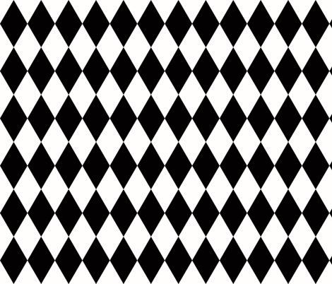Harlequin diamonds - monochrome black and white geometric || by sunny afternoon fabric by sunny_afternoon on Spoonflower - custom fabric