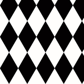 Harlequin diamonds - monochrome black and white geometric || by sunny afternoon