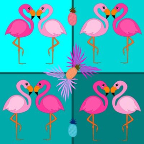 Pineapples & Flamingos