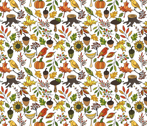 Autumn in the forest fabric by juliabadeeva on Spoonflower - custom fabric