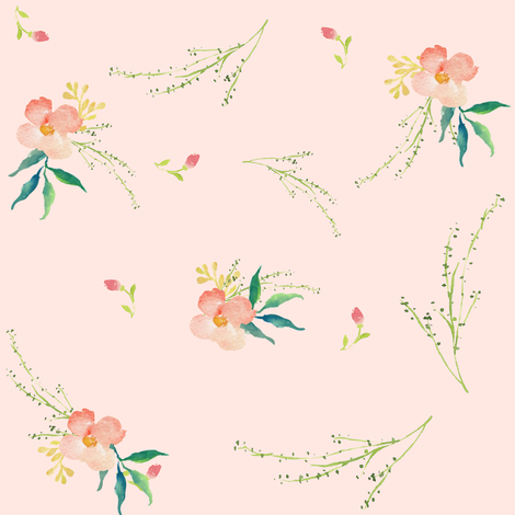 Pink Ice Florals - Scattered fabric by shopcabin on Spoonflower - custom fabric