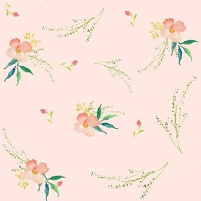 Pink Ice Florals - Scattered