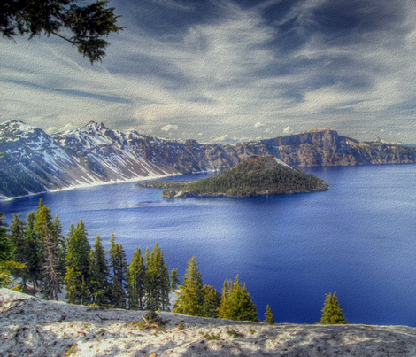 state oregon - crater lake fabric by stofftoy on Spoonflower - custom fabric
