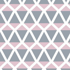 Kites in a geometric pattern in gray and pink