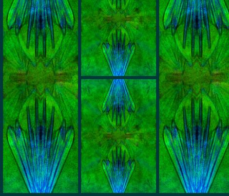 FM Blue Algae fabric by desertattitude on Spoonflower - custom fabric