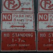 Parking warning signs