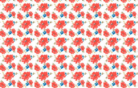 Indy Bloom Roses are Red fabric by indybloomdesign on Spoonflower - custom fabric