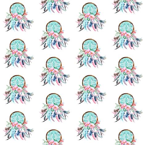 2 pink aqua dream catcher fabric shopcabin spoonflower 2 pink aqua dream catcher fabric by shopcabin on spoonflower custom fabric mightylinksfo
