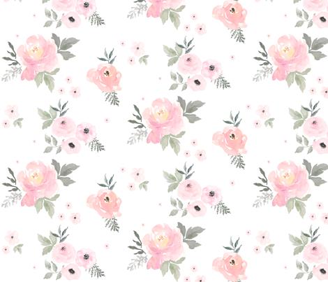 8 Sweet Blush Roses Wallpaper Shopcabin Spoonflower
