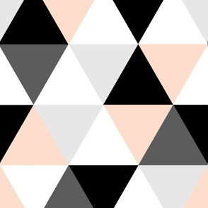 Blush Peach Greys Triangles_rev