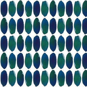 Painted Dots in Blue Green