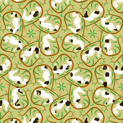 Pinto Seahorse Promenade fabric by eclectic_house on Spoonflower - custom fabric