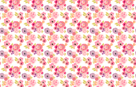 INDY BLOOM DESIGN Rosie Rainbows B fabric by indybloomdesign on Spoonflower - custom fabric