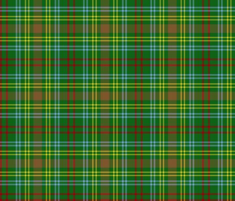 O'Brien tartan - modern colors fabric by weavingmajor on Spoonflower - custom fabric