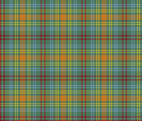O'Brien tartan - ancient colors fabric by weavingmajor on Spoonflower - custom fabric