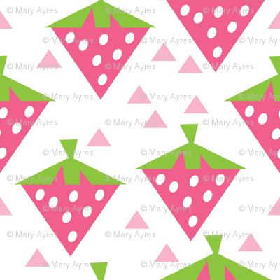 geometric strawberries