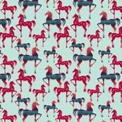Paper Horses-blue