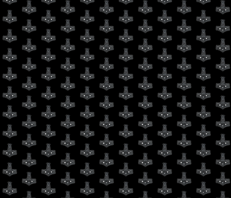 Mjolnir fabric by redthanet on Spoonflower - custom fabric